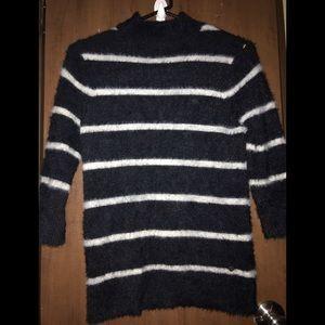 Volcom Bunney Riot Fuzzy Stripe Pullover Sweater M